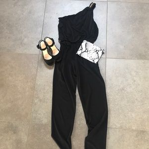 Rachel Zoe  one shoulder pantsuit